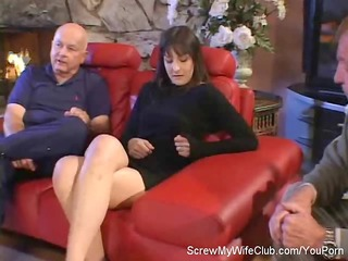hubby leabes when his swinger wife screws a