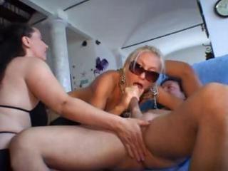 breasty older italians take turns banging cock