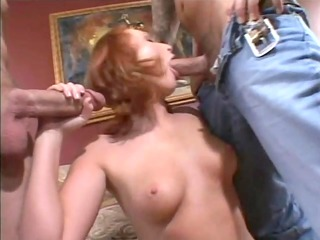 d like to fuck redhead acquires a double dicking-
