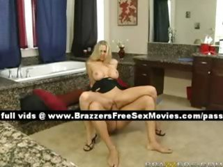 priceless blond wife on the washroom floor
