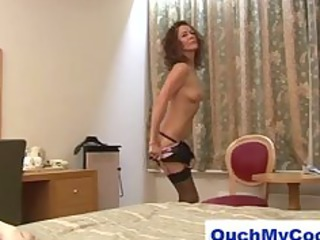 lustful aged lady gives gutsy guy a harsh tugjob