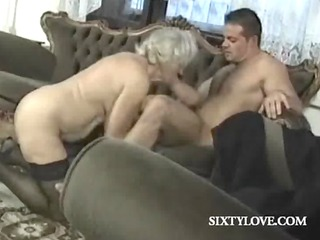 mature blonde whore rides pounder in group sex