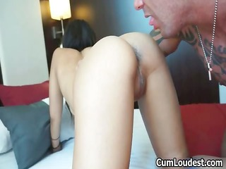 hawt brunette hair honey goes crazy sucking part3
