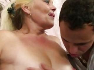 blonde granny gets her wet crack slammed