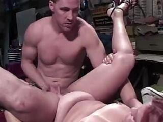 bulky aged red-haired chick acquires nailed to