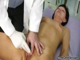 old doctor inspecting a shaggy mature mama part1