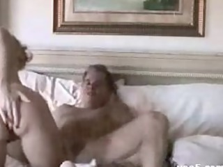 wife copulates hubbie and den receives cummed on