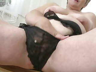 hawt old granny playing with her old vagina