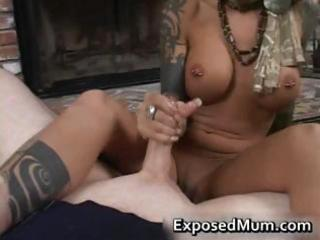 round bigtits tattooed mom fireplace part7