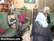 milf teasing a lesbo granny