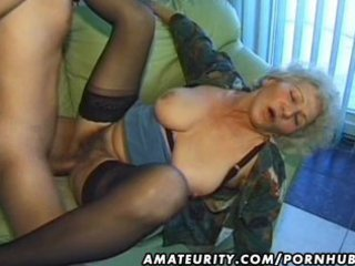 old dilettante mature wife sucks and fucks with