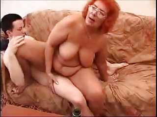 old redhead granny like fck with young guy.by
