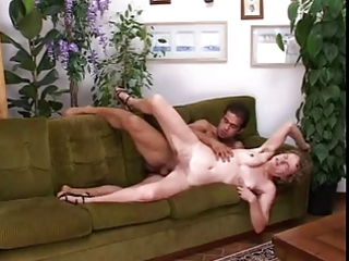 curly italian mom fucked in cunt and wazoo on the
