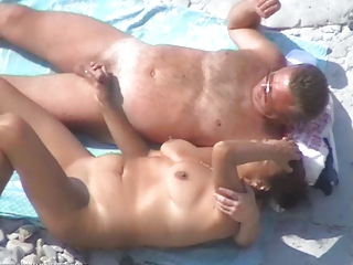 some other worthwhile mature pair on the beach