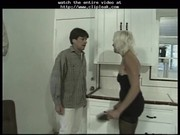 blonde little titted granny bonks threesome