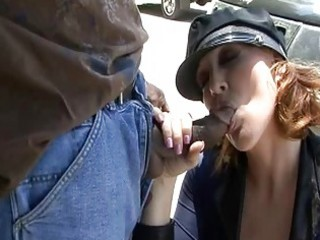 older police chicks sucking black cock on public