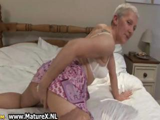 granny likes wearing nylons part11