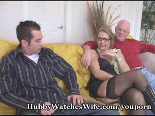 mature honey watched by hubby