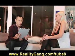cheating bigtit golden-haired wife floozy has