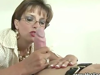 british aged headmistress is fond of gags