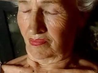 old granny shows off that is flaccid body and