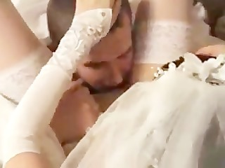 bride drilled by her fresh spouse