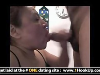 latin mature hookup gets her mouth drilled
