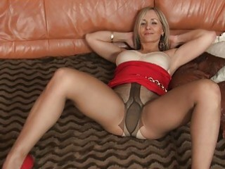 blonde d like to fuck in hot tight suit and hose