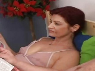 horny granny engulfing old dong in the ottoman