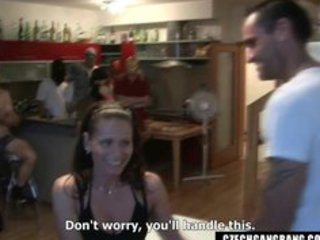 wifes fantasy comes true at czech gang bang