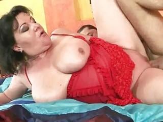 breasty chubby grandma getting fucked hard