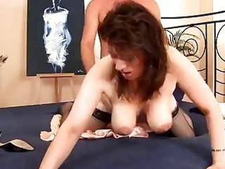 lascivious mature sweetheart in stockings screwed