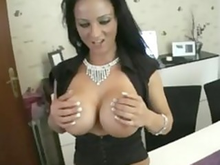 hawt german bitch with large fake tits bonks her