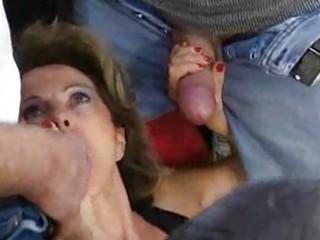 german older housewife receives loads of cum on