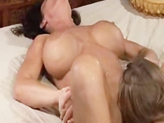 mommy squirts allk over her daughter many times