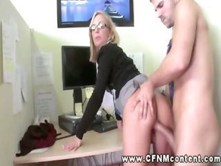 office skanks demand hard fucking from two