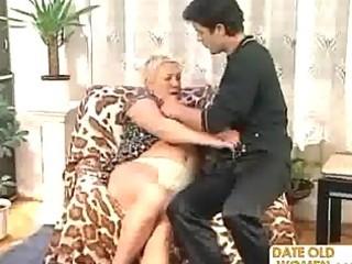 granny copulates a younger man