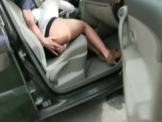 golden-haired d like to fuck screwed into a garage
