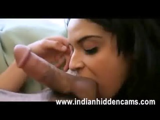 indian gf engulfing her boyfriend balls licking