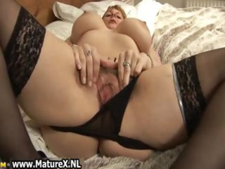 big boobs mature with black nylons