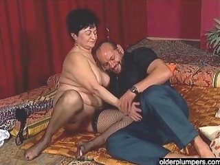 Horny granny with big tits still loving sex