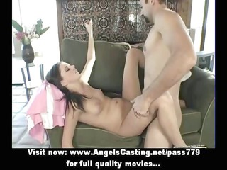nude brunette with piercing in love tunnel fucked