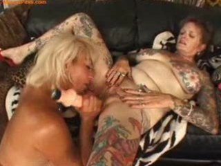 tattooed aged lesbian babes