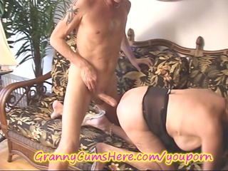 granny licks wazoo and receives a goo pie