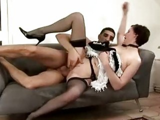 mature maid acquires spanked by chap