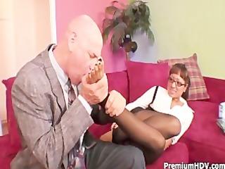 round mangos babe fucks with boss