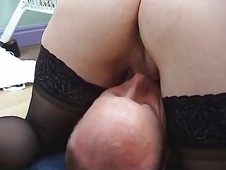 golden-haired milf in nylons bonks and gets a