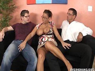 breasty d like to fuck double handjob