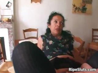 slutty aged slut double screwed as one