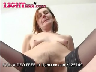 anal granny in lace top stockings bonks